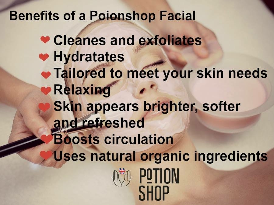 Potionshop Facial Benefits Infographic